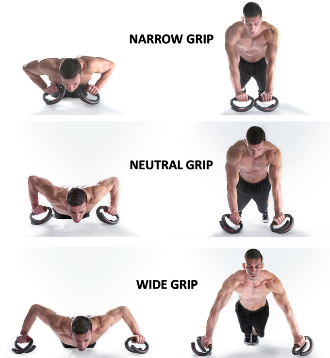 The Legend Pushup allows you to do many variations of the pushups ergonomically