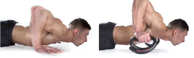 The Legend Pushup allows you to go deeper in your movements without hurting your wrists