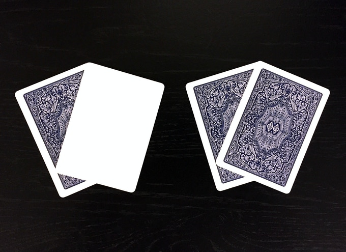 Blue Ad Cards: Blank Face and Double Backer