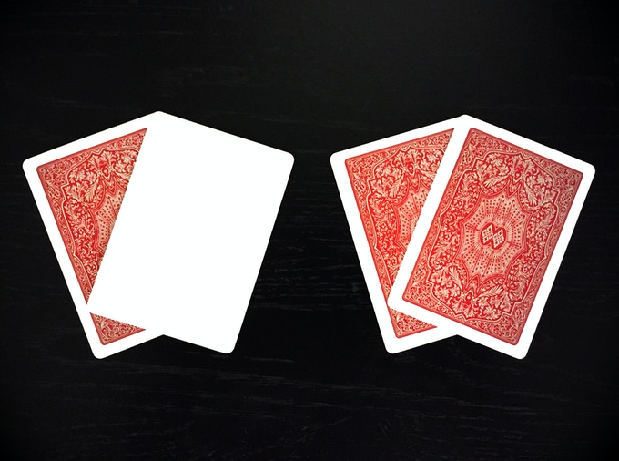 Red Ad Cards: Blank Face and Double Backer
