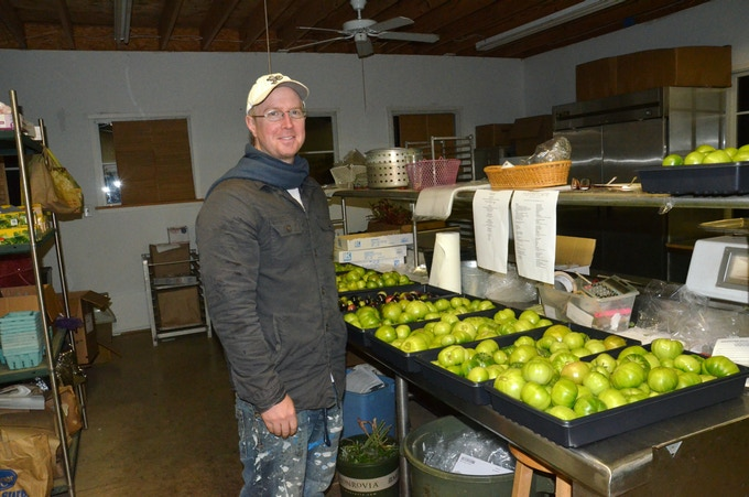 End of the season heirloom green tomatoes for Manakintowne Specialty Growers