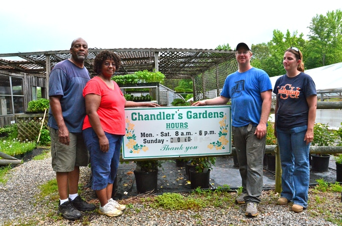 Chandler's Nursery for advice and partnering with me to provide the most beautiful plants