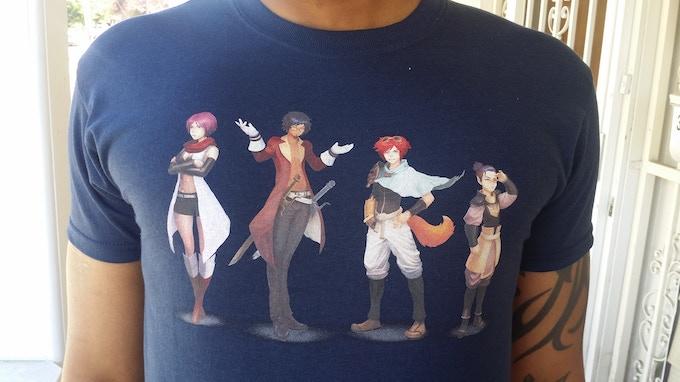 Exclusive full art shirt!