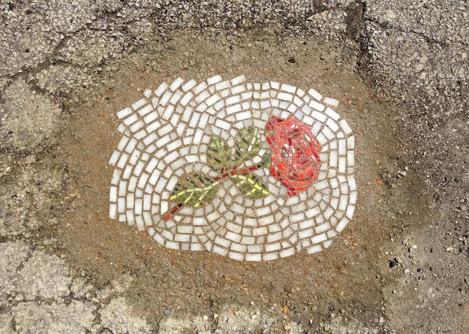 """Rose"" Flower Pot Hole Series"