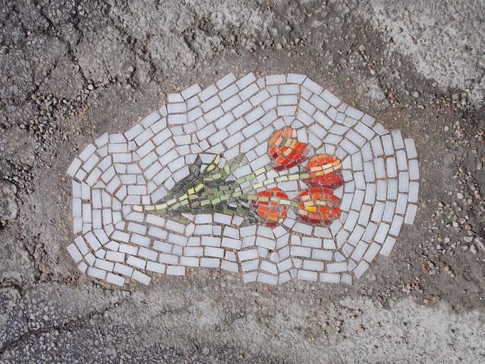 """Tulips"" Flower Pot Hole Series"