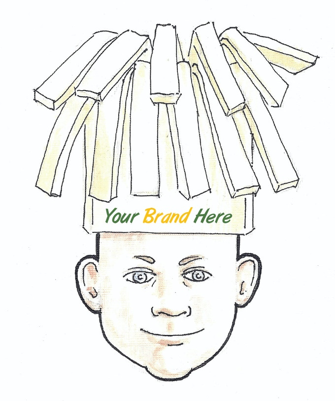 $10,000 Reward - Company Brand Name on String Cheese Hat for one year