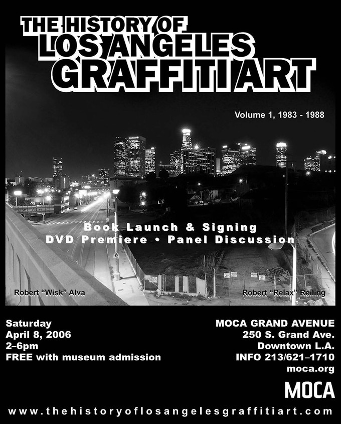 The History of L.A. Graffiti Art - Volume One premiered at the Museum of Contemporary Art (MOCA).
