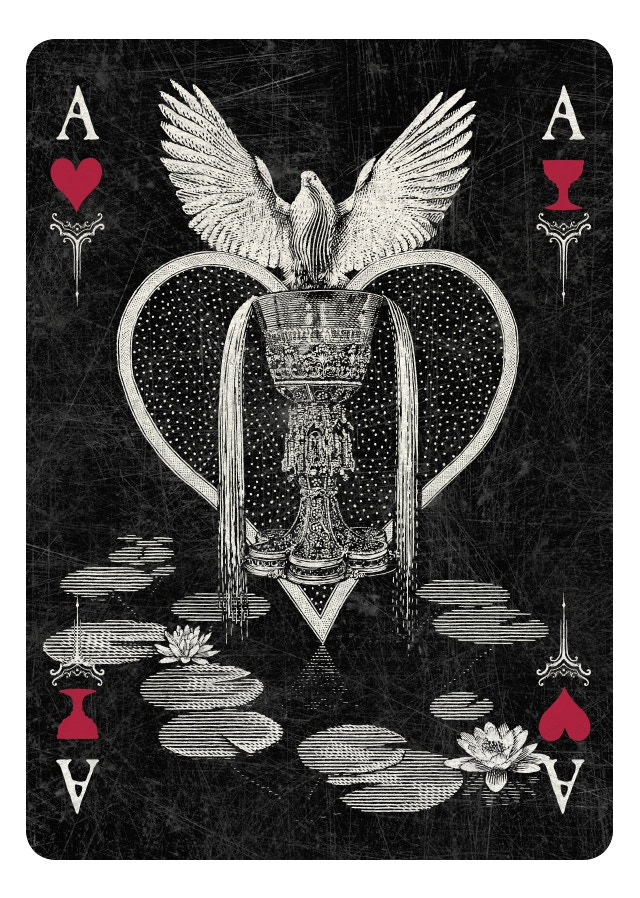 Ace of Hearts/Cups  - dark version