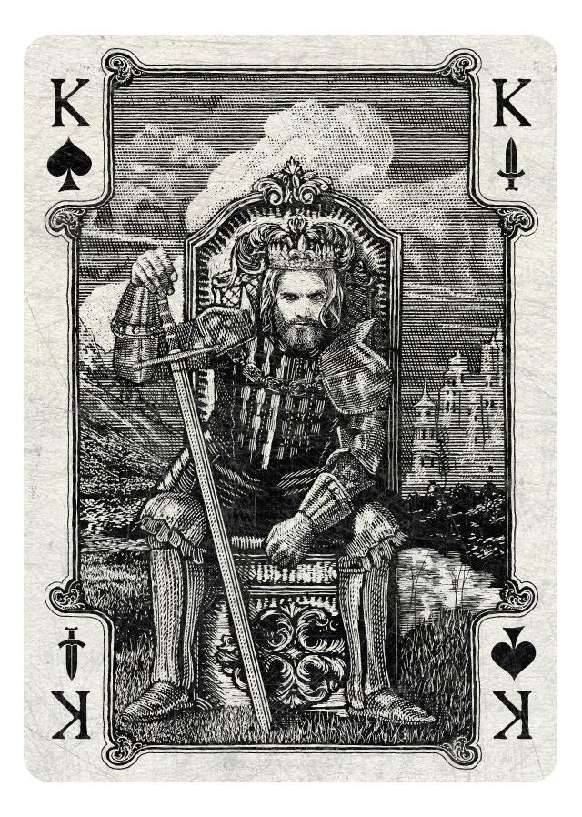 King of Spades/Swords - light version