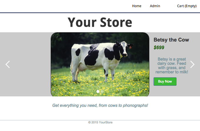 Create an online store with Rails