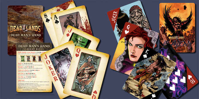 Visionary's Dead Man's Hand and Raven Custom Playing Cards!