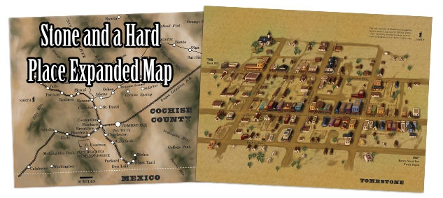All the maps from the book in an easy-to-print PDF, including poster-sized versions of the towns and Cochise County!