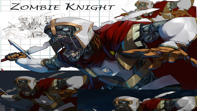 Zombie Knight Staging Artwork