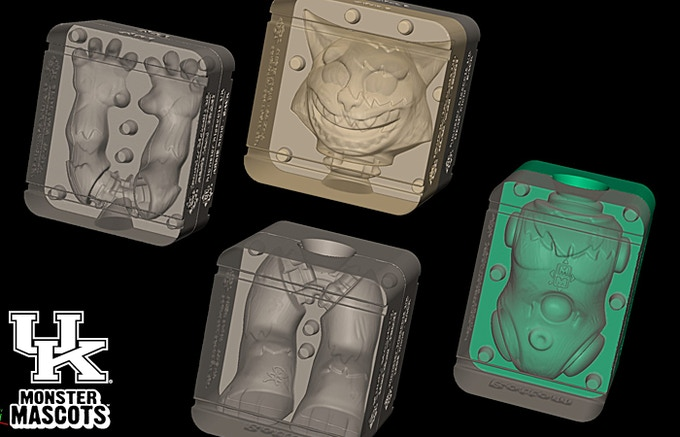 CAD files of the UK Wildcat mold blocks.
