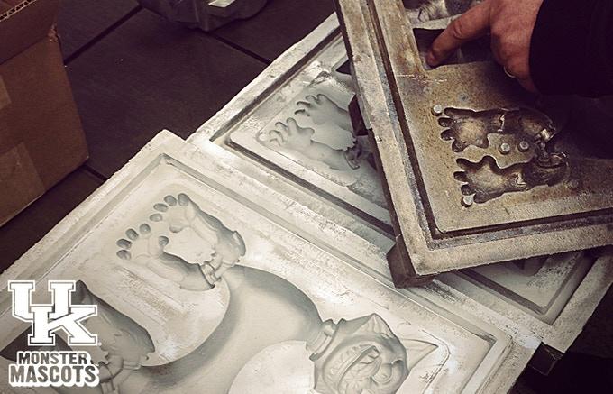 UK Wildcats Monster Mascots aluminum molds ready for cleaning!