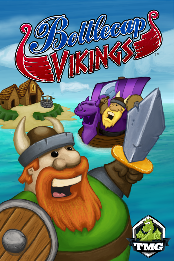 The not yet quite finished cover for Bottlecap Vikings.