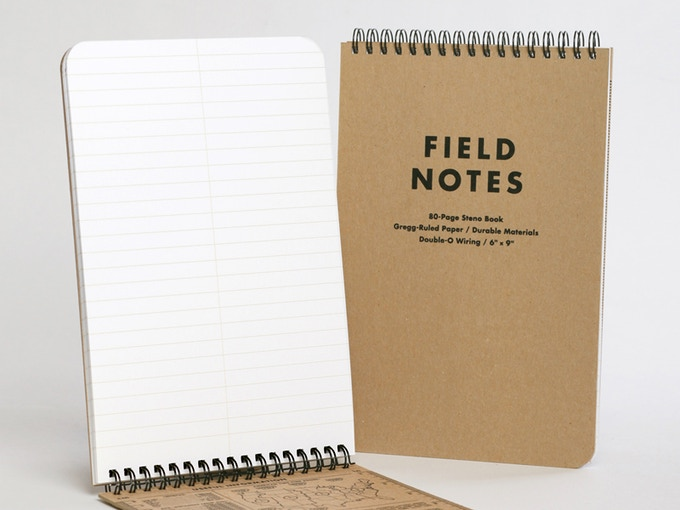 Field Notes Steno gregg ruled notebook