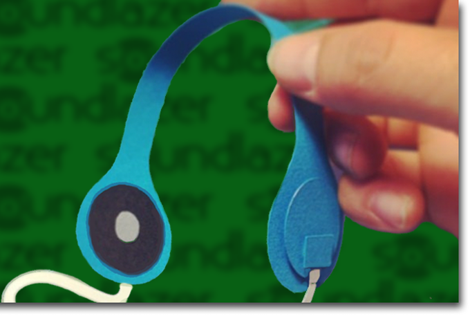 Paper Headphones for fun, promotions and listening emergencies!