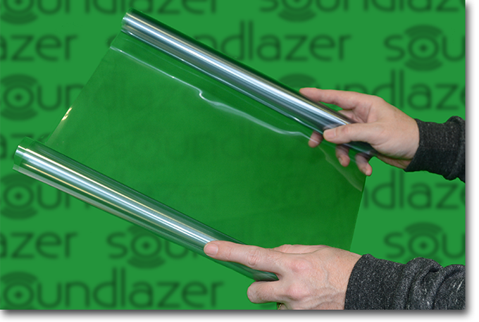 PVDF Speakers are specially made sheets of piezoelectric vinyl with conductive coatings.