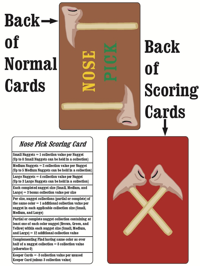 Examples of Card Backs and Scoring Cards