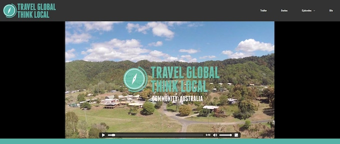 Example of how each episode will be presented on Travel Global Think Local website