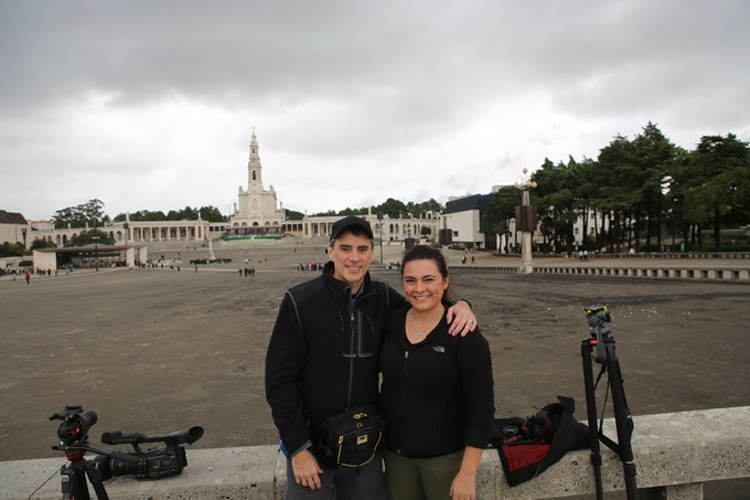 David and Diana in Fatima, Portugal