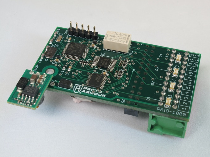 Initial prototype of ProtoPLC for Raspberry Pi.