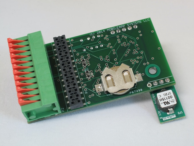 Lithium coin cell for RTC and memory backup.