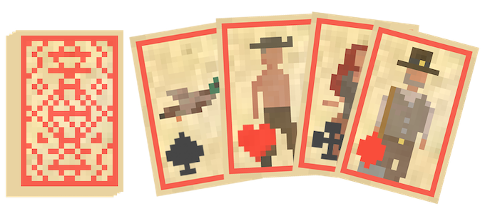 Mock-up for the playing cards.