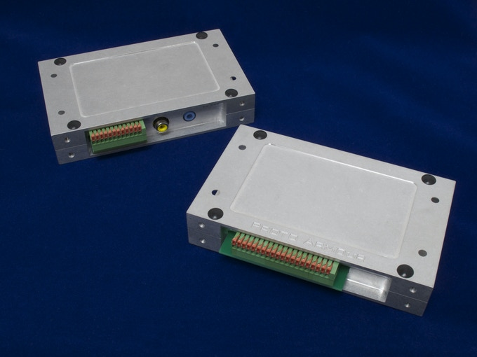 ProtoPLC for Raspberry Pi installed in Proto Armour cases.