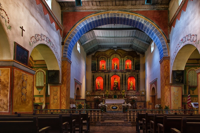 Interior of Mission San Juan Bautista