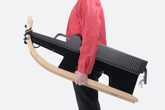 Folding Sled, flat