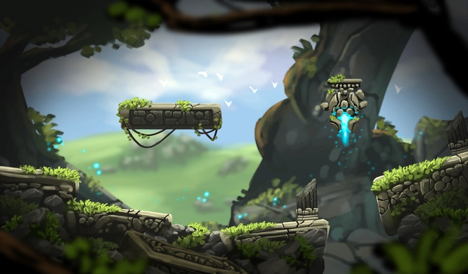 Early concept for one of the game environments before they have been corrupted.