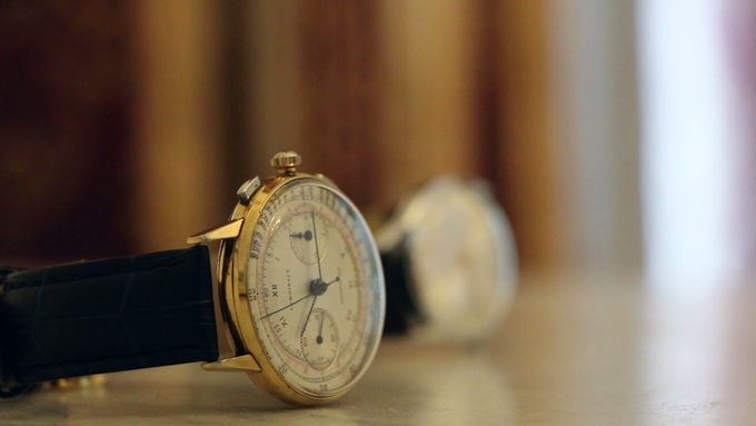 Left: Lebois & Co Chronograph from the 1930's