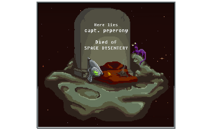 Trust us, you really don't want space dysentery.