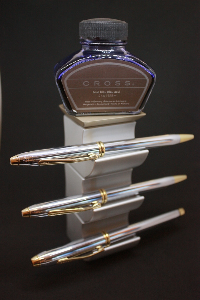 The Pen Rest stacked using three blocks and one top (also a great place to display your ink).