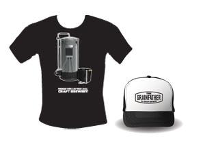 Grainfather T Shirt and Trucker Cap