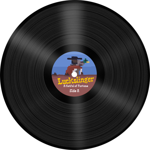 Mock-up for the Luckslinger soundtrack on vinyl