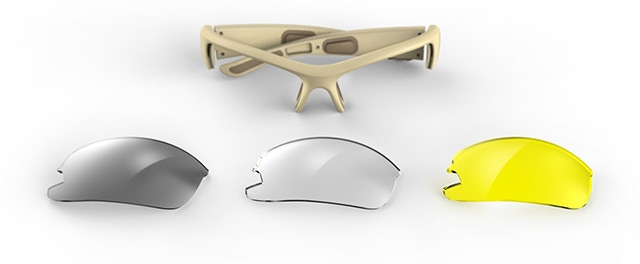 Smoke Grey lenses - Clear lenses - High visibility/Antifog Yellow lenses (ANSI Z87.1 certified)