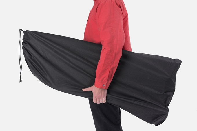 Folding Sled, flat with waterproof bag