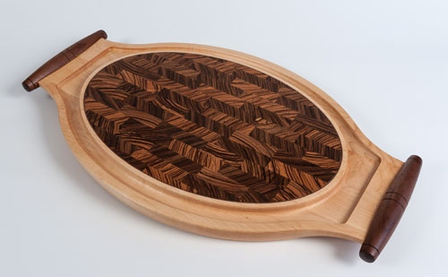 Exotic Inlayed End Grain Cutting And Serving Boards By