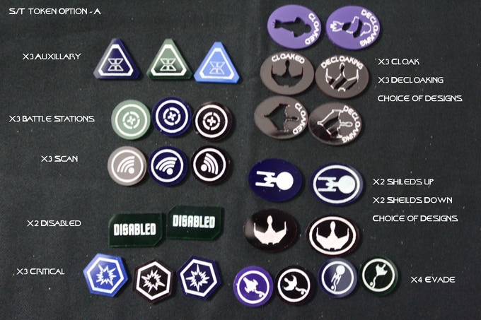 Star Trek Token Option - A: add $10.00 (Retail Value $12.40 - 28pcs)  Choice of Colors