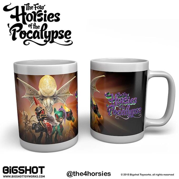 Four Horsies ceramic mug (concept art, final artwork might be slightly different)