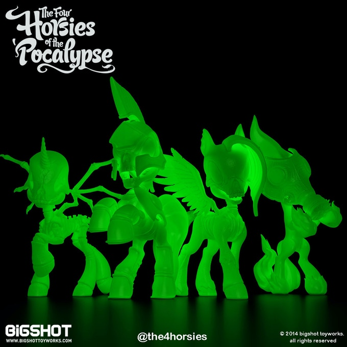 Four Horsies Glow in the Dark colorway set (limited to 300 sets in this colorway)