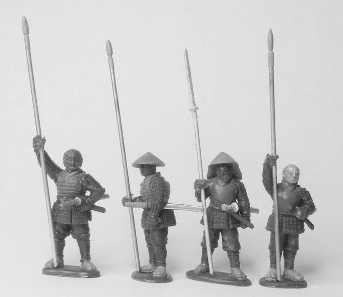 Standard bearers or infantry. Sculpts