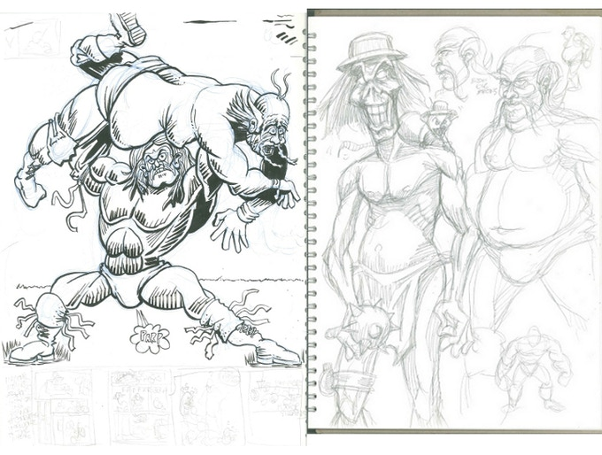 Ryan Taylor Original Panel w/ Sketches on Back!
