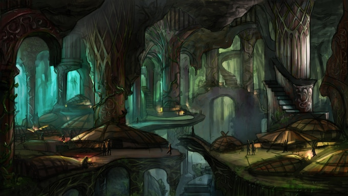 The Stygian Abyss makes the typical fantasy game's above-ground assortment of medieval towns and wilderness seem stale by comparison.