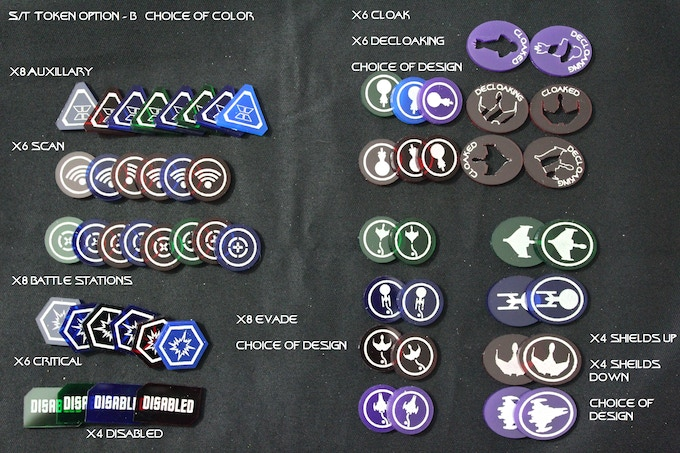 Star Trek Token Option - B: add $20.00 (Retail Value $24.80 - 56pcs) Choice of Colors