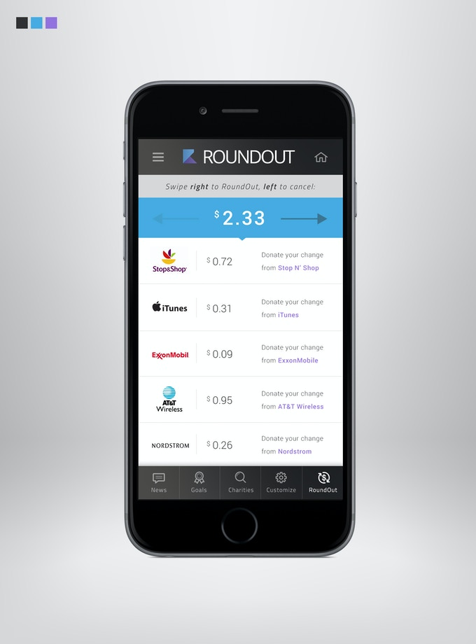RoundOut makes donating to charity simpler and more convenient than ever before!