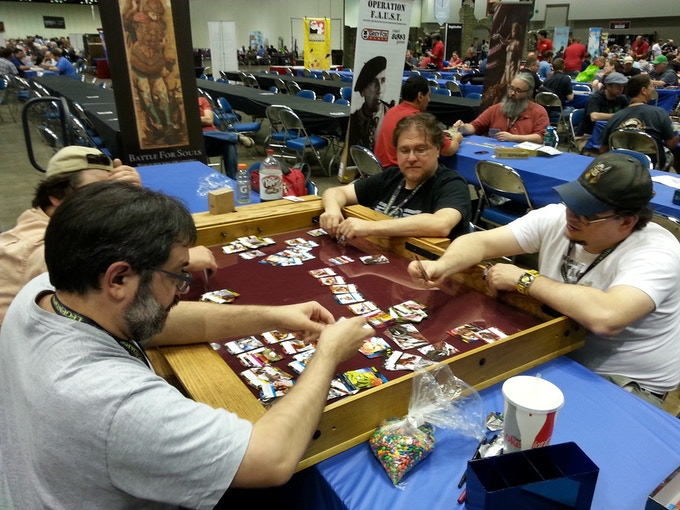 Game Dais playtested by Con attendees at GenCon Indy 2014!